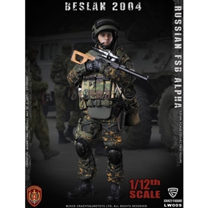 CrazyFigure 1/12 Russian Alpha Special Forces Russian Sniper (CF-LW009)