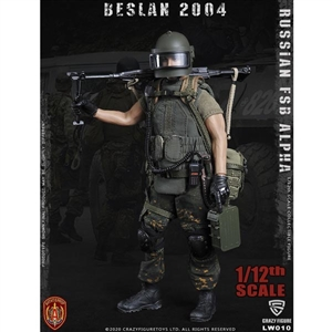 CrazyFigure 1/12 Russian Alpha Special Forces Russian Machine Gunner (CF-LW010)