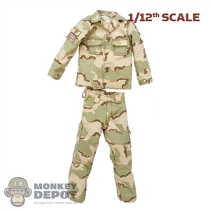 Uniform: CrazyFigure 1/12th Mens 3 Color Desert Uniform
