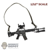 Rifle: CrazyFigure 1/12th Car-15 w/Red Dot Sight, Light + Sling