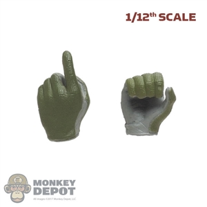Hands: CrazyFigure 1/12th Mens Molded Tactical Gloved Hands