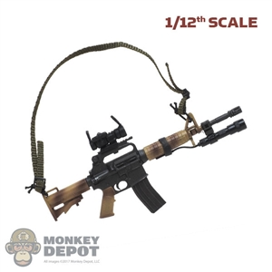 Rifle: CrazyFigure 1/12th RO727 Carbine w/Sight + Light