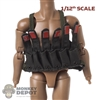 Vest: CrazyFigure 1/12th Mens Green Commando Chest Rig