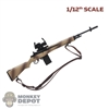 Rifle: CrazyFigure 1/12th M14 w/Sight + Sling