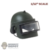 Helmet: CrazyFigure 1/12th Mens Arkin w/Bulletproof Glass Mask
