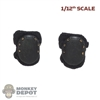 Pads: CrazyFigure 1/12th Mens Black Knee Pads