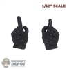 Hands: CrazyFigure 1/12th Mens Black Molded Weapon Grip