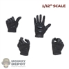 Hands: CrazyFigure 1/12th Mens Black Molded Hands Set