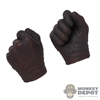 Hands: CM Toys Mens Brownish Molded Gloved Holding Grip
