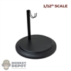 Stand: Coo Models 1/12th Black Round Figure Stand