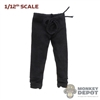 Pants: Coo Models 1/12th Mens Black Trousers