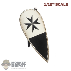 Shield: Coo Models 1/12th Hospitaller Knight Shield w/Leather-Like Straps