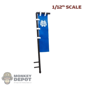 Tool: Coo Models 1/12th Blue Flag w/Bamboo Bird Heraldry