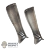 Armor: Coo Models Mens Silver Distressed Lower Leg Guards
