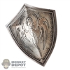 Shield: Coo Models Silver Distressed Dragon Shield