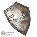 Shield: Coo Models Silver Distressed Cross Shield