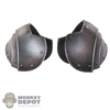 Armor: Coo Models Silver Distressed Plain Collar Shoulder Guards