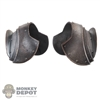 Armor: Coo Models Silver Distressed Standing Collar Shoulder Guards