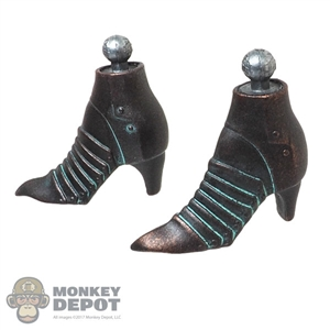 Boots: Coo Models Female Bronze Colored Metal Boots