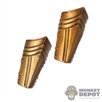 Armor: Coo Models Female Gold-Like Metal Forearm Guards