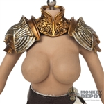 Armor: Coo Models Female Gold Neck + Shoulder Armor