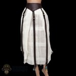 Skirt: Coo Models Female White Cloth Skirt w/Leather-Like Straps