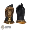 Hands: Coo Models Mens Molded Black/Gold Armored Relaxed Hands