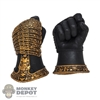 Hands: Coo Models Mens Molded Black/Gold Armored Holding Grip