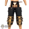 Armor: Coo Models Mens Black/Gold Thigh + Knee Armor