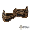 Armor: Coo Models Mens Black/Gold Collar Shoulder Guards