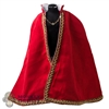 Cloak: Coo Models Mens Red/Gold Cape w/Gold/Diamond Cloak Chain