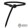 Belt: Coo Models Thin Black Plastic Belt