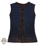 Coat: Coo Models Mens Sleeveless Blue Padded Short Undercoat (Weathered)