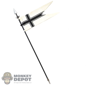 Flag: Coo Models Spear w/Black Cross Flag (Poseable)