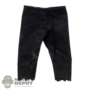 Pants: Coo Models Mens Black Stained Pants