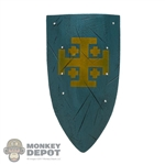 Shield: Coo Models Blue Shield w/Kingdom Of Jerusalem Crest