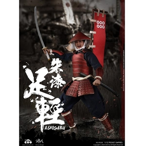 Boxed Figure: CooModels 1/12 Red Armor Ashigaru (CM-PE008)