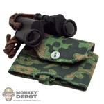 Binoculars: Cal Tek German WWII Black w/ Carrier