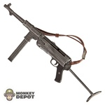 Rifle Dragon German WWII MP40 Brown Leather Sling Slider