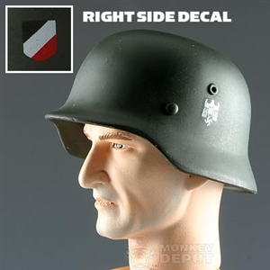 Helmet Dragon German WWII M35 Double Decal Heer REAL METAL