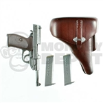 Pistol: Dragon German WWII Walther P38 w/Dark Brown Holster