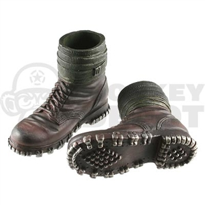Boots Dragon German WWII Mountain Brown puttes