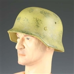 Helmet Dragon German WWII M35 Painted and Weathered Yellow Metal