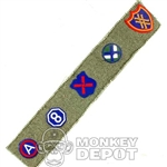 Insignia Dragon US WWII Divisional Cloth Cut and Peel and Stick