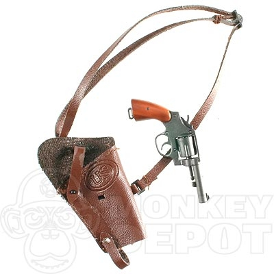 1:6th Scale Dragon GI Joe Brown Leather Shoulder Holster WWII