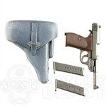 Pistol Dragon German WWII Walther P38 Whitewashed