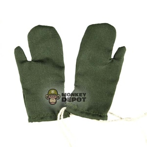 Gloves: Dragon German WWII Mittens Green