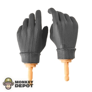 Hands Dragon Brown Knit Gloved Pistol Gripped Style