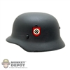 Helmet: Dragon German WWII SS-M35/40 Helmet Double Decal (Real Metal)