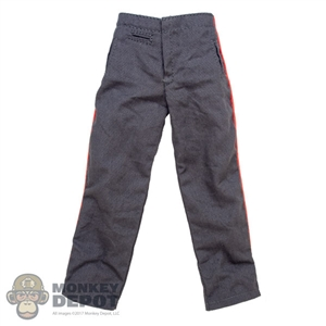 Pants: Dragon WWII German Gray Pants w/Pink Piping
